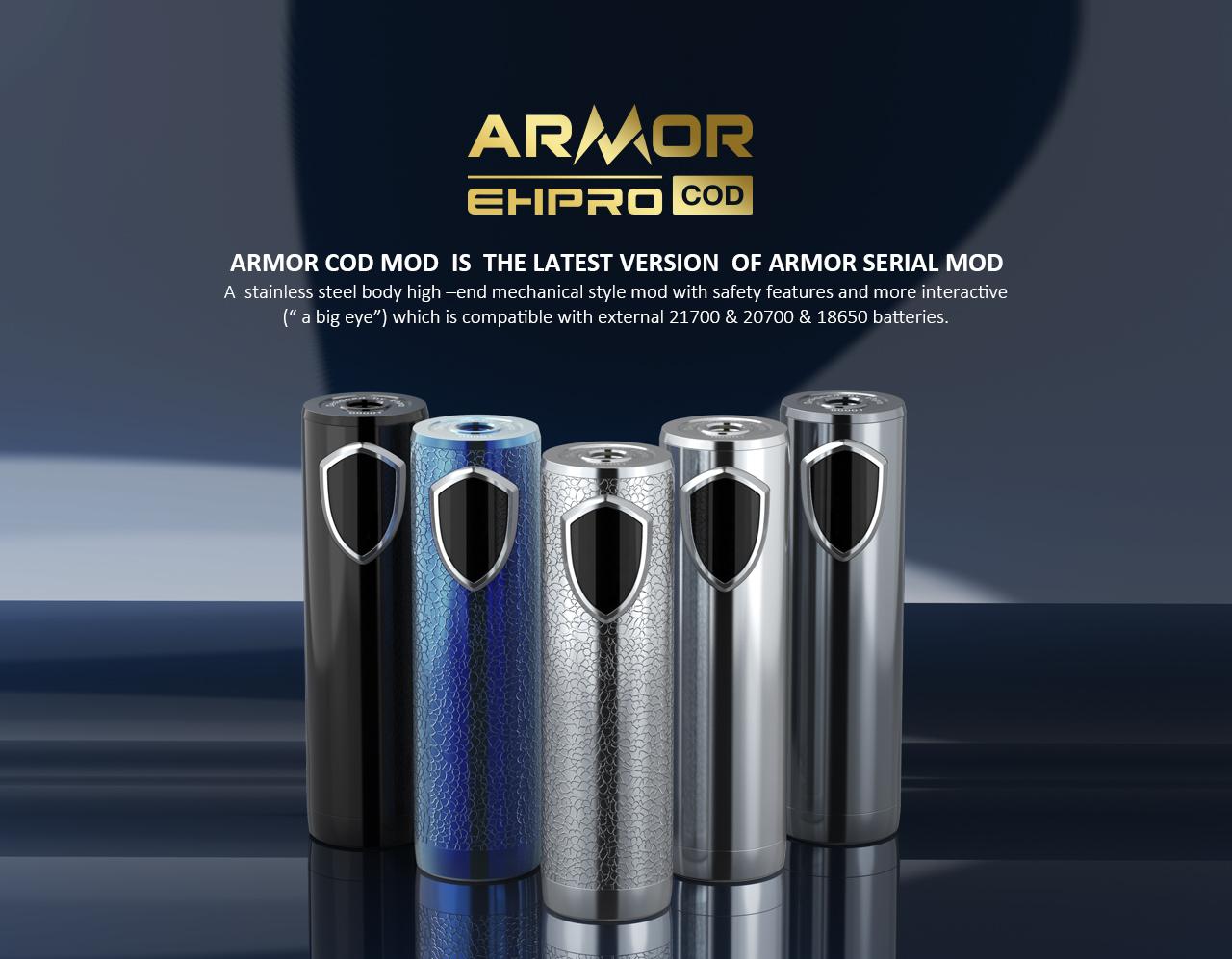 armor cod 21700 semi mech mod by ehpro 1