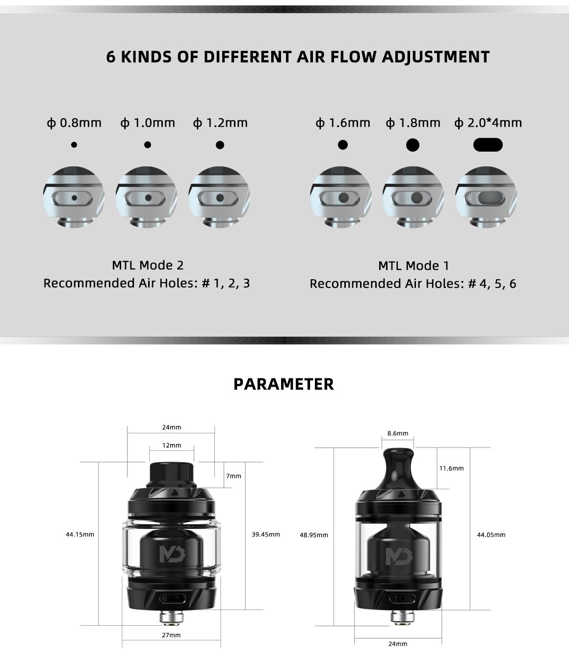 MD RTA 24mm by Hellvape vapexperts 6