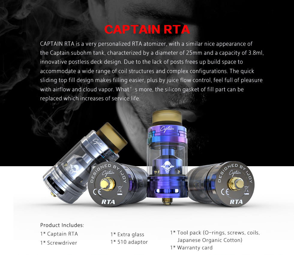 Captain RTA by iJoy vapexperts 21