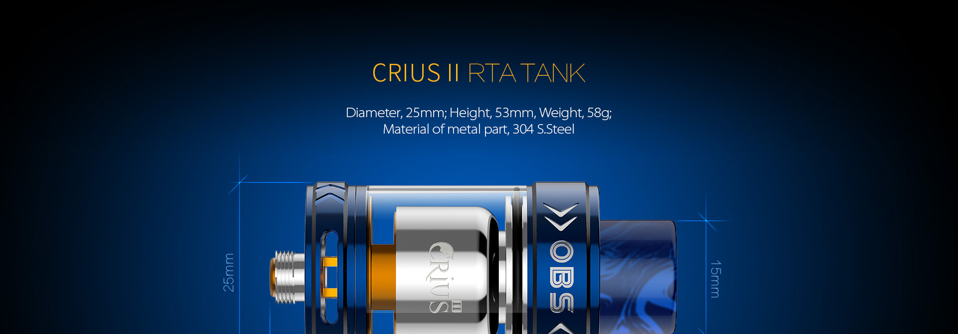 Crius 2 RTA by OBS vapexperts 17
