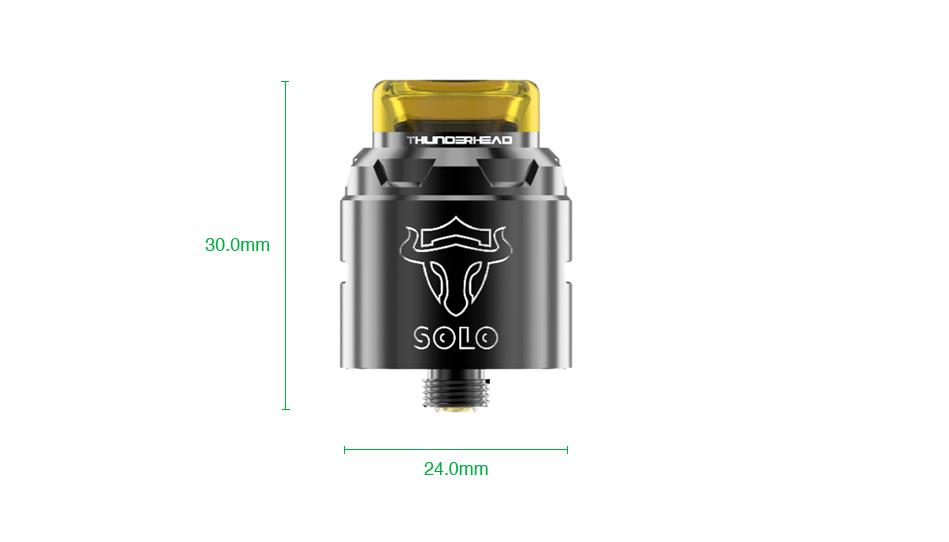 THC Tauren Solo RDA vapexperts 6 - Tauren Solo RDA 24mm by Thunderhead (THC)