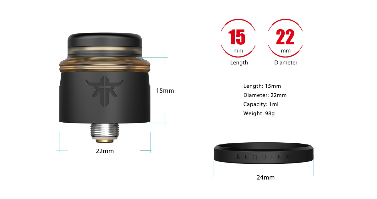 requiem rda 22mm by vandy vape 6