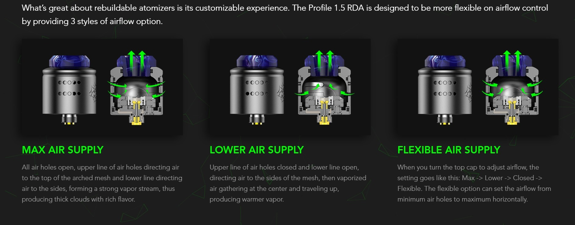 profile 1 5 rda 24mm vape experts by wotofo 1