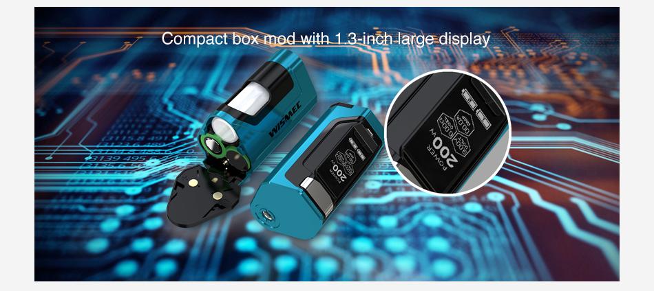 wismec Luxotic DF 200W TC Box MOD squonk vapexperts 4