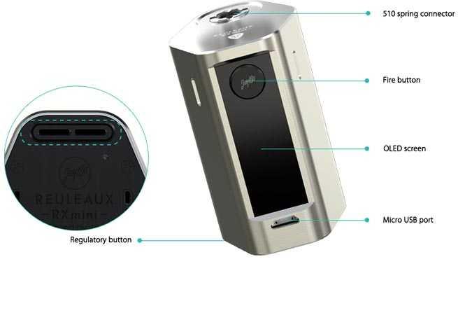 Rx Mini Box 2100 mah 80w Mod by Wismec vapexperts 2