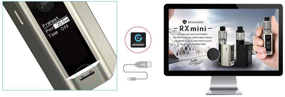 Rx Mini Box 2100 mah 80w Mod by Wismec vapexperts 9