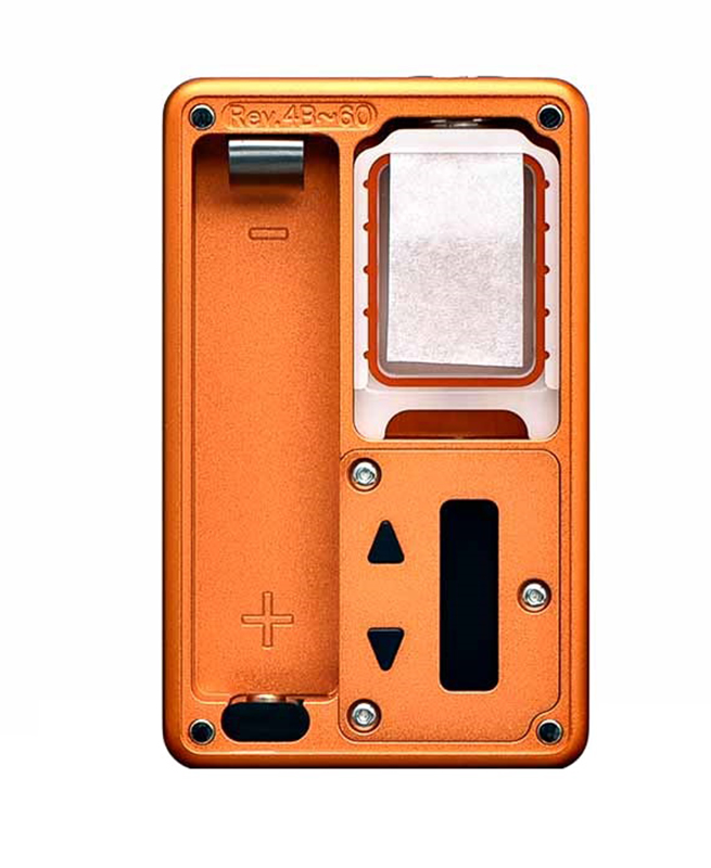 vapexperts Billet Box Mod Kurbiskuchen Orange Button Mop Plates G10 Output 60W 121