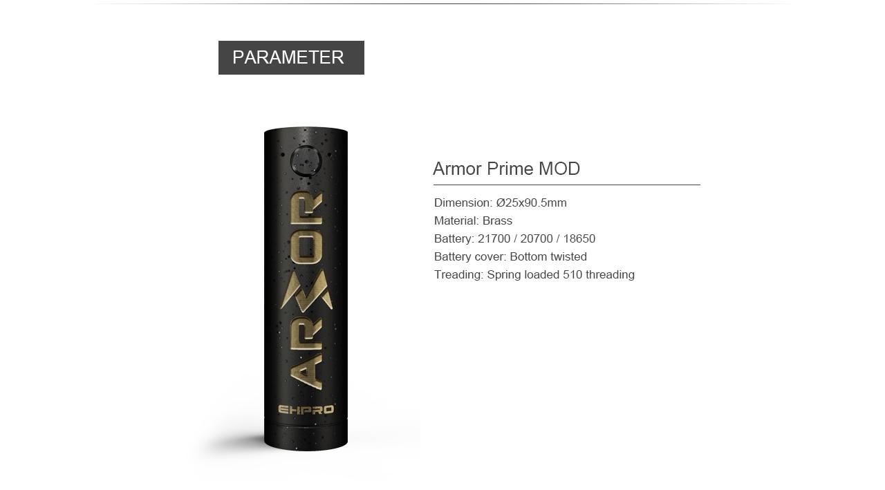 armor prime mod ehpro vapexperts 7