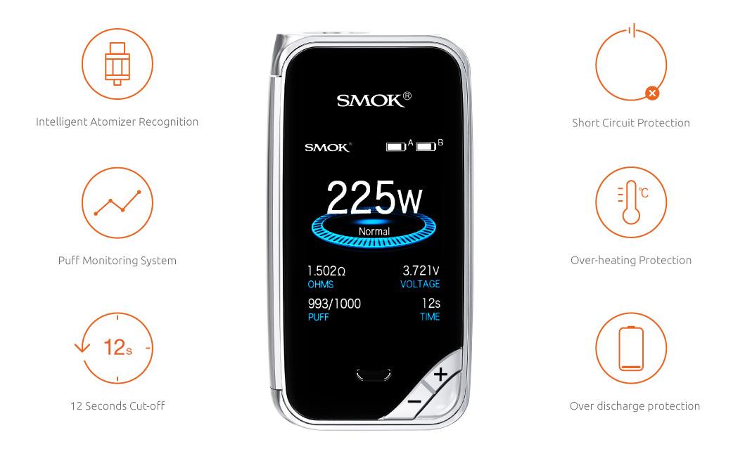 X Priv 225W Box Mod by Smok vapexperts 6